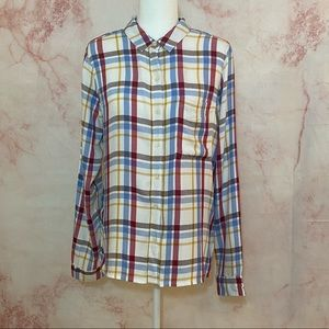 NWT- SO Longsleeve Flannel Button Down - L